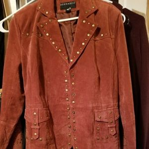 Rustic leather jacket size xl